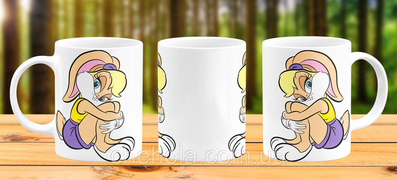 Оригинальная кружка с принтом Багз Банни Прикольная чашка подарок девушке