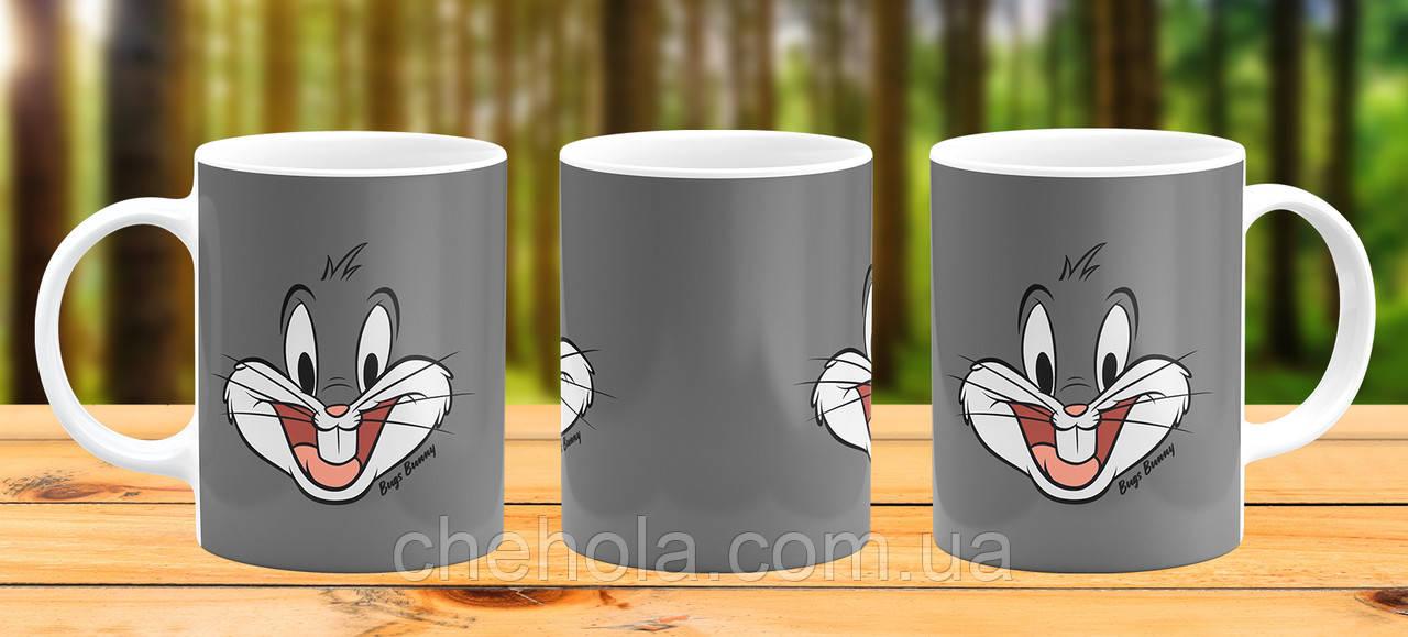 Оригинальная кружка с принтом Багз Банни Прикольная чашка подарок Сыну Дочке