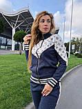 Женский брендовый вязаный костюм с логотипами, в горчичном цвете, р.42/46, фото 4