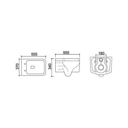 Унитаз подвесной Qtap Snipe безободковый с сидением Slim Soft-close QT0332122DW, фото 2