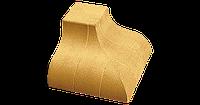 """Кирпич облицовочный """"Литос"""" Угловые элементы Фасонный """"Карнизный"""" наружный 190х190х120"""