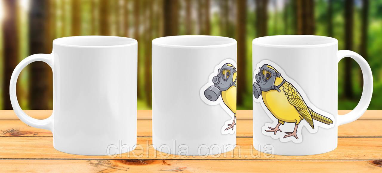 Оригінальна гуртка з принтом COVID пташка Прикольна чашка подарунок Подрузі Другові