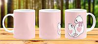 Оригинальная кружка с принтом Подарок Маме Бабушке Котики Прикольная чашка