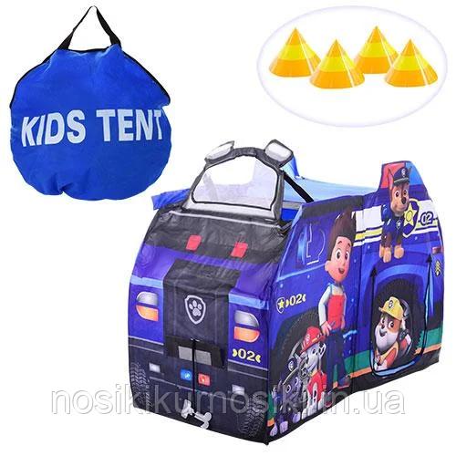 Детская игровая палатка M 3527 Щенячий патруль, размер 135*64*97 см - Полицейская машина