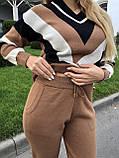 Женский брючный костюм с шерстью, в кирпичном цвете, р.42/46, фото 4