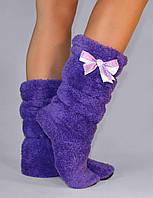 "Махровые тапочки-cапожки tm 09 ""Purple"""