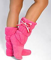 """Махровые тапочки-cапожки tm 06 """"Pink"""", фото 1"""