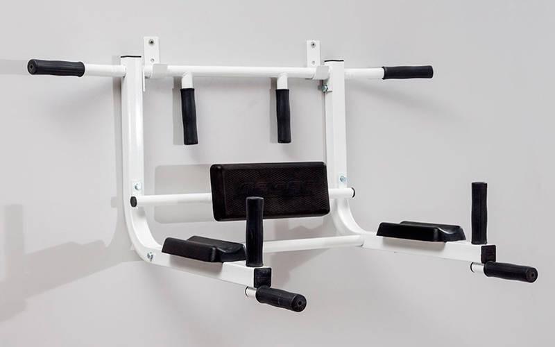 Турник - брусья - крепление к стене SP-Planeta L-6671T8 (металл, PU, р-р 100x45x70 см, вес польз.до 150кг)