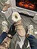 Женские зимние кроссовки Dior D-Connect Winter (Premium-class) бежевые с мехом, фото 3
