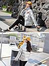 Модная демисезонная блестящая женская куртка, модель оверсайз, цвет серебро, фото 2