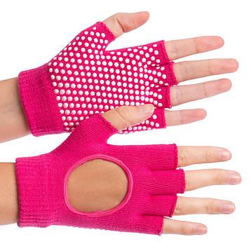 Перчатки для йоги и танцев без пальцев FI-8367 (хлопок, спандекс, эластан, цвета в ассортименте), фото 2
