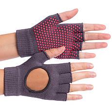 Перчатки для йоги и танцев без пальцев FI-8367 (хлопок, спандекс, эластан, цвета в ассортименте), фото 3
