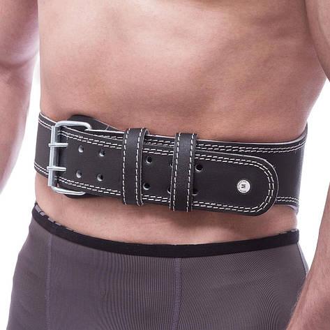 Пояс атлетический кожаный FAIRTEX 161078 (ширина-6in (15см), р-р S-XL, с подкладкой для спины, черный), фото 2
