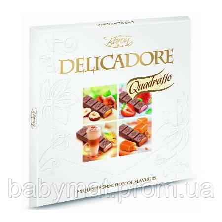 Шоколад подарочный порционный - 4 вкуса - 16 стиков. инд.запакованы.200гр. Baron Delicadore Quadratto