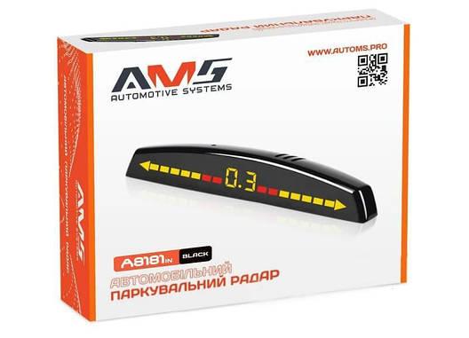Парковочный радар AMS A8181in V2 Black (P15046), фото 2