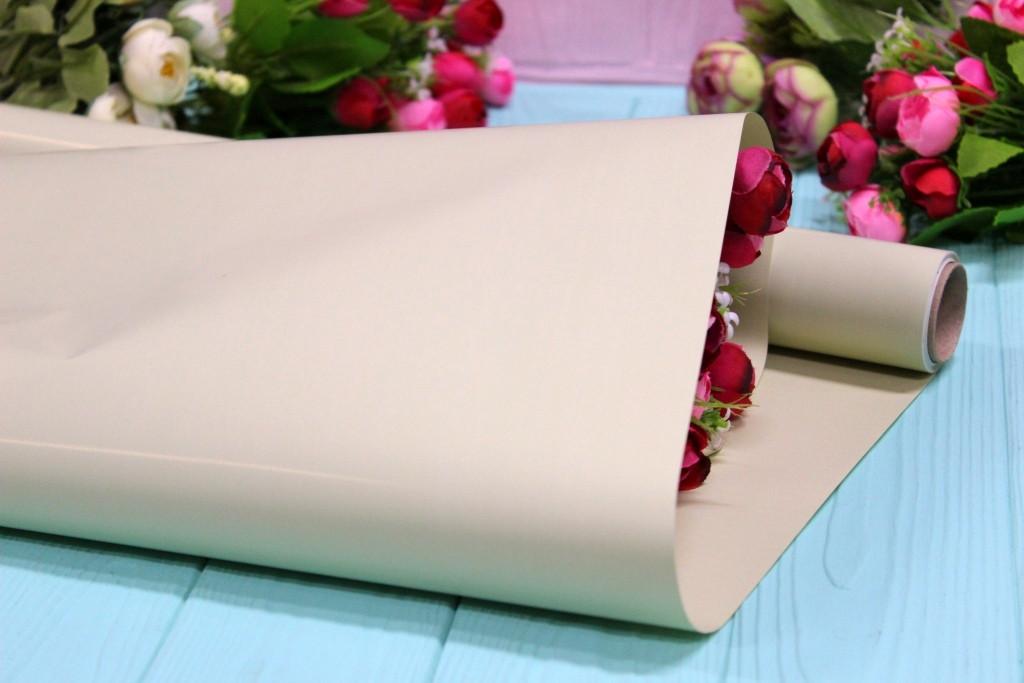 Калька для цветов - матовая флористическая пленка 50см*10м Мятная