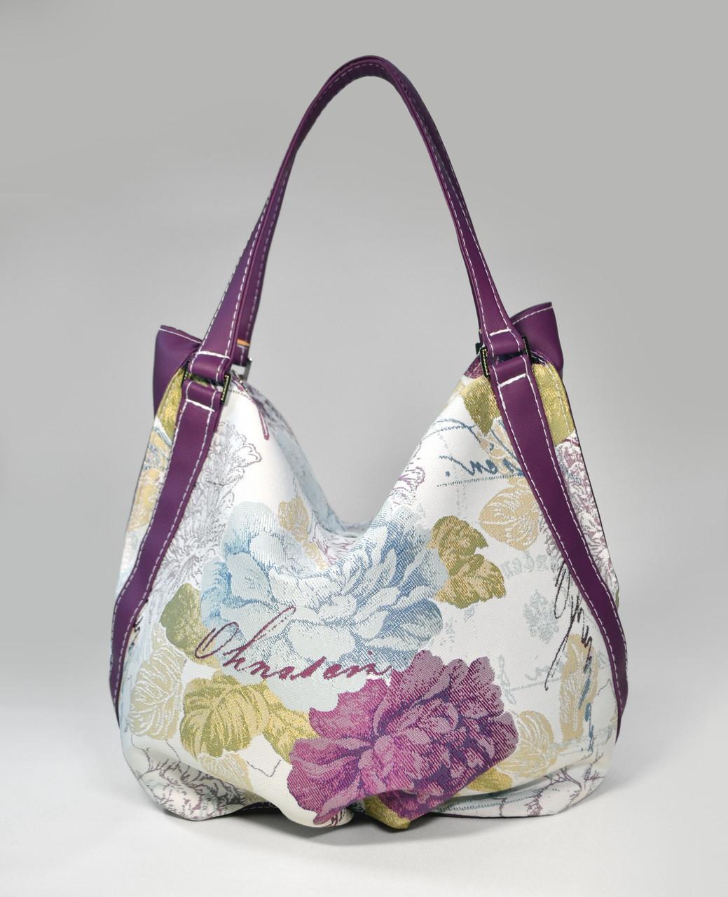 """Сумочка """"Anabelle"""" 22 цветы с фиолетовым"""