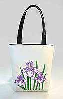 """Женская сумка """"Ирисы """" Б339 - белая, фото 1"""