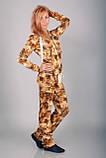 Модний костюм для прогулянок Clifton золотий леопард, фото 3