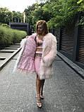 Розовая шуба из ЛАМЫ 90 см, фото 3