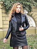 Черная брендовая куртка Philipp Plein из натуральной кожи, фото 5