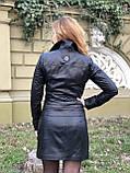Черная брендовая куртка Philipp Plein из натуральной кожи, фото 6