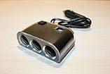 Тройник для прикуривателя с USB №1505, фото 2