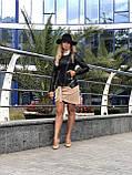 Женская кожаная куртка Fabio Monti, отстегивающийся низ,  42 ( 42, 44, 46, 48 ) черный, кожа 40, фото 6