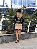 Женская кожаная куртка Fabio Monti, отстегивающийся низ,  42 ( 42, 44, 46, 48 ) черный, кожа 40, фото 7