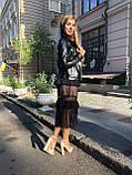 Жіноча шкіряна куртка Fabio Monti, англійський комір, 42 ( 40, 42, 44, 46, 48 ) чорний, шкіра 42, фото 4