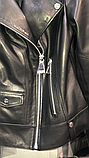 Жіноча шкіряна куртка Fabio Monti, англійський комір, 42 ( 40, 42, 44, 46, 48 ) чорний, шкіра 42, фото 9