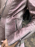Женская кожаная куртка Deloras, классика, 44, розовый, кожа 94, фото 6