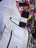 Белая кожаная куртка Турция, фото 7