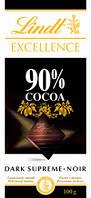Черный шоколад Lindt Excellence 90% какао