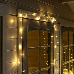 Гирлянда нить светодиодная 100 LED, 8 метров, теплый белый