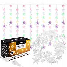 Гирлянда бахрома уличная (наружная) новогодняя Springos 2 м 180 LED CL4005 разноцветная для улицы - Love&Life