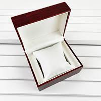 Деревянная подарочная упаковка шкатулка коробочка для наручных часов бордовая 7000-0085
