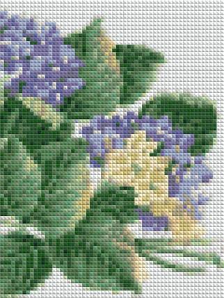 КДИ-0054 Набор алмазной вышивки Гортензия, фото 2