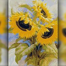 TWD10045 Набор алмазной вышивки Солнечный букет, 30х40 см, фото 2