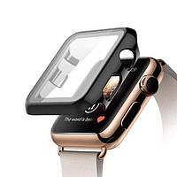 Чехол с защитным стеклом STR для Apple Watch 44 mm - Black