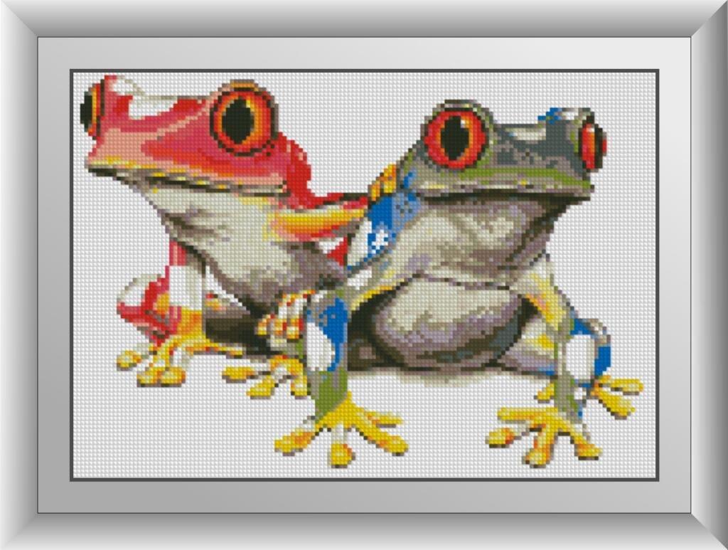 30362 Набор алмазной мозаики Красочные лягушки