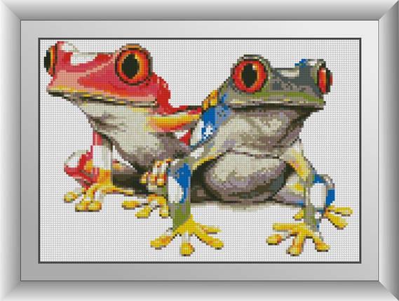 30362 Набор алмазной мозаики Красочные лягушки, фото 2