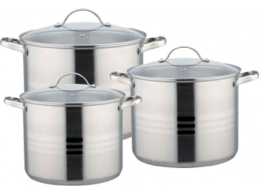 Набор посуды из нержавеющей стали Con Brio 3 предмета 11л/13,5л/16л (CB-1148)