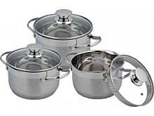 Набор посуды из нержавеющей стали Con Brio 3 предмета 2,7л/3,7л/4,9л (CB-1145)
