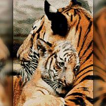 TWD20075 Набор алмазной вышивки Испуганный тигренок, 30х40 см, фото 2
