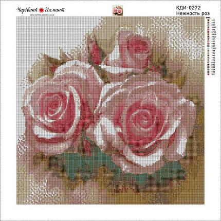 КДІ-0272 Набір алмазної вишивки Ніжність троянд, фото 2