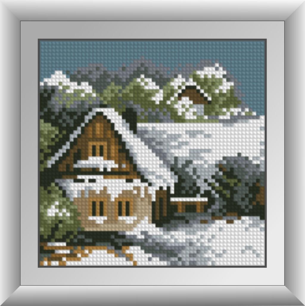30487 Набор алмазной мозаики Зимний домик
