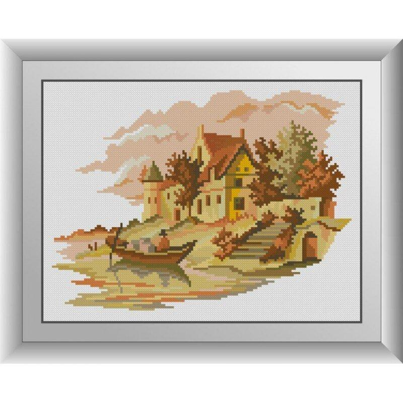 31006 Дом у реки Набор алмазной живописи