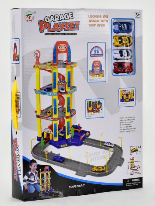 Детский гараж парковка 4 машинки Garage Playset Р 8488 А-2