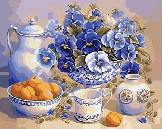 AS0018 Раскраска по номерам Летний завтрак, В картонной коробке, фото 2